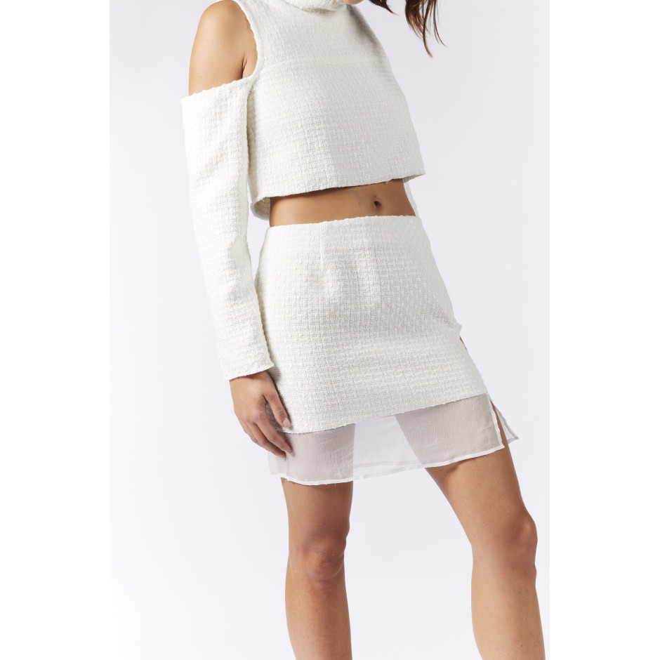 TRÈS PARTICULIER - Off white skirt