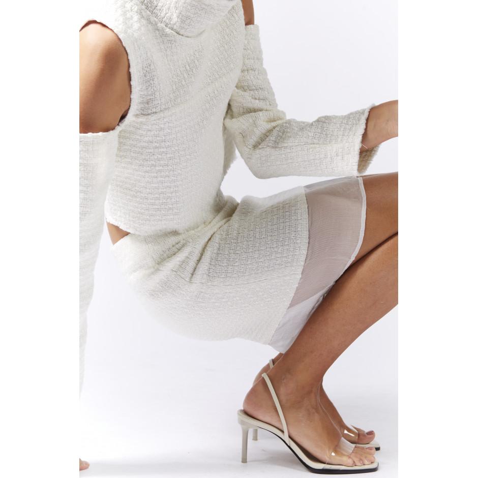 Jupe en tweed écrue