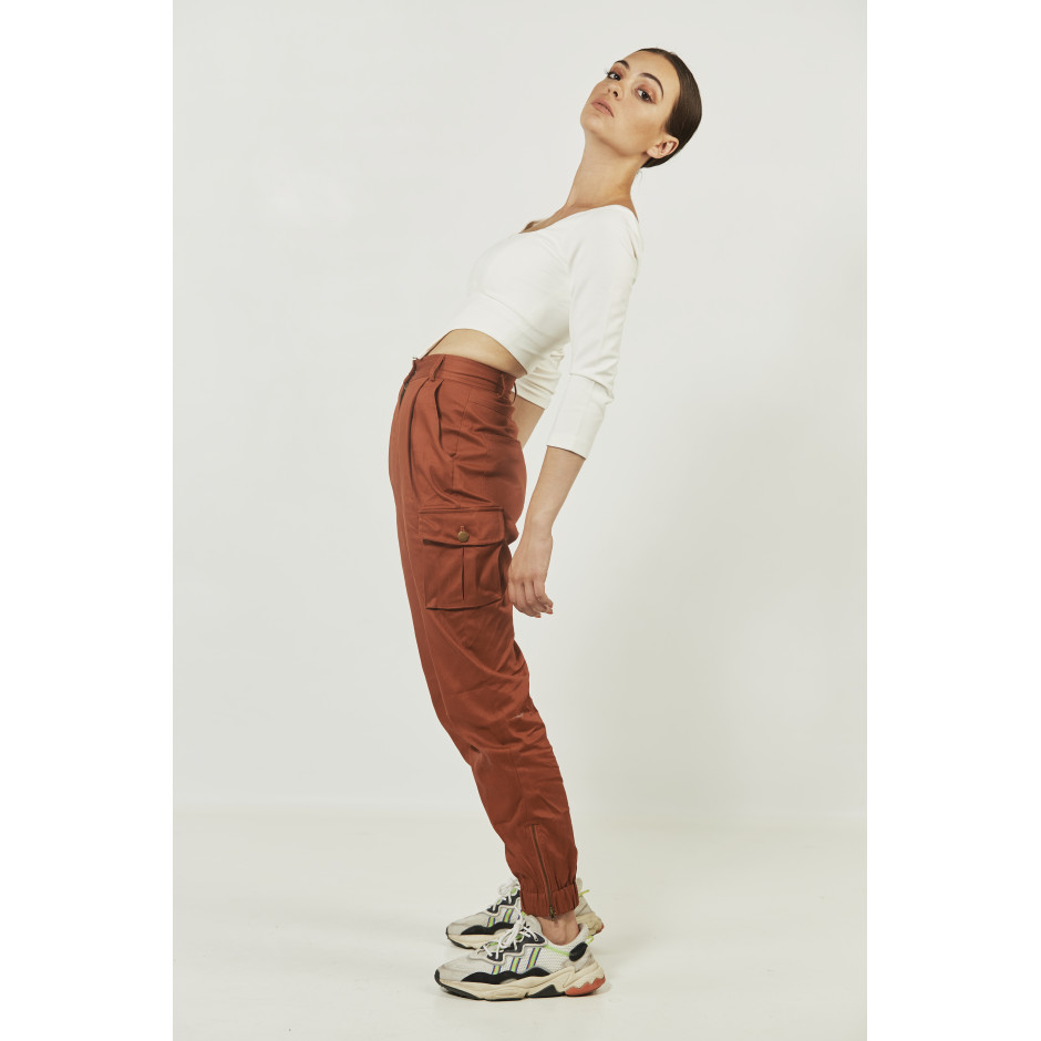 ROSA - pantalon rouille